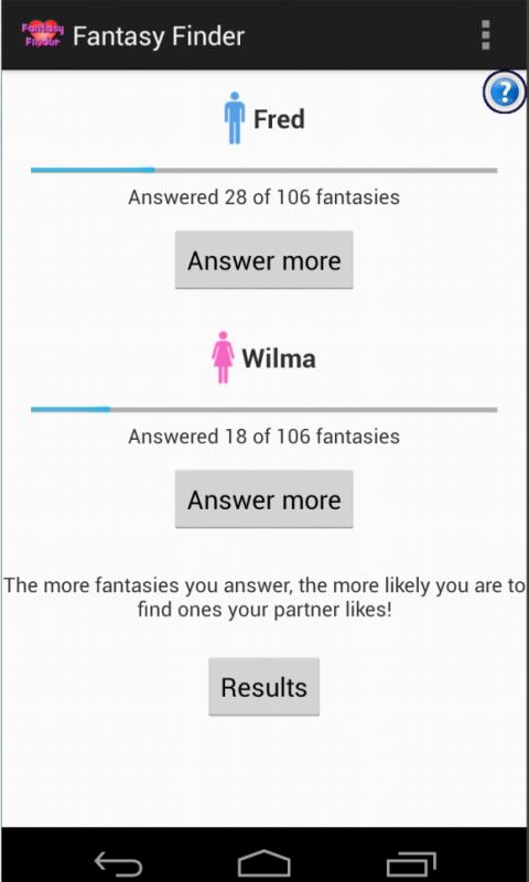 Fantasy Finder - screenshot