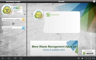 Screenshot of Hazardous Waste Compatibility