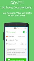 Screenshot of GoVPN free VPN for Android
