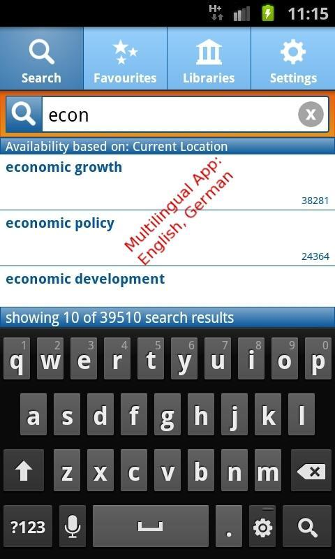 EconBiz - screenshot