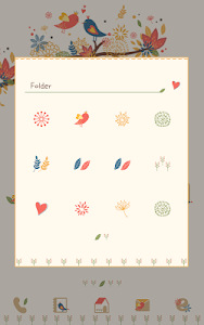 autumn leaves Dodol Theme screenshot 1