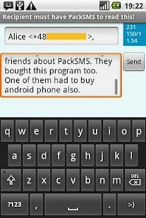 PackSMS Free - screenshot thumbnail