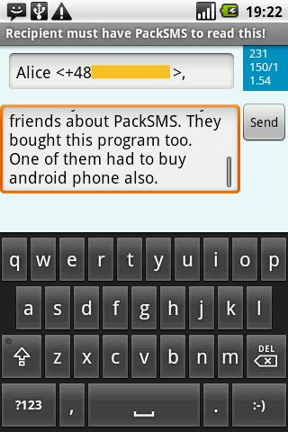 PackSMS Free - screenshot