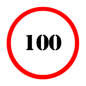 Speed limit (circle)- Battery
