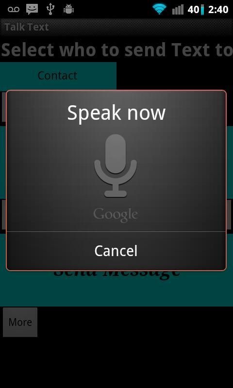 Talk Text- screenshot