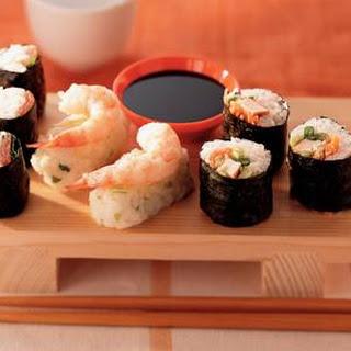Sushi Met Garnalen