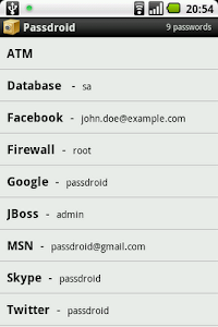 Passdroid screenshot 0
