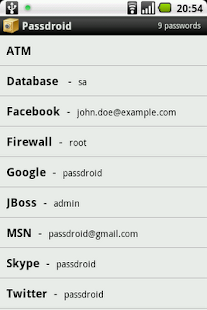 Passdroid - screenshot thumbnail