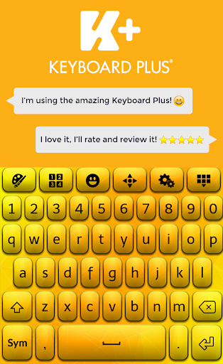 Yellow HD Keyboard Theme