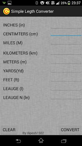 Simple Length Converter
