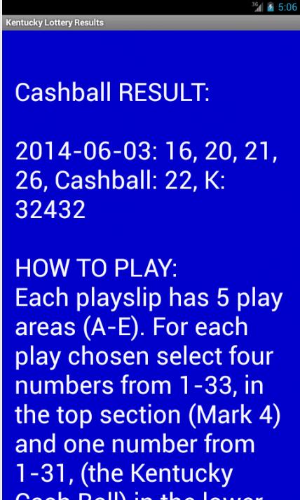 5 card cash winning numbers