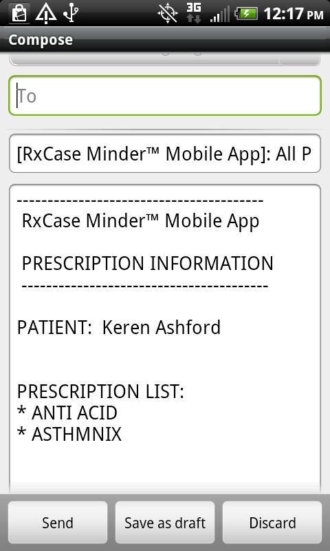 RxCase Minder® - screenshot