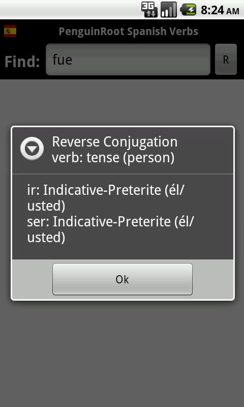 PenguinRoot Spanish Verbs FREE - screenshot