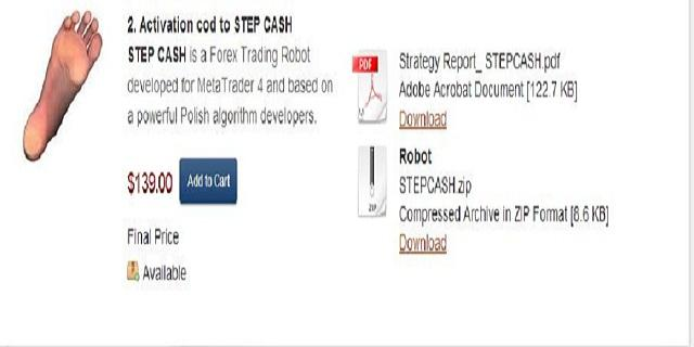 FOREX ROBOT STEPCASH - screenshot