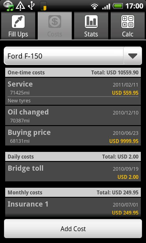 FuelLog - Car Management- screenshot