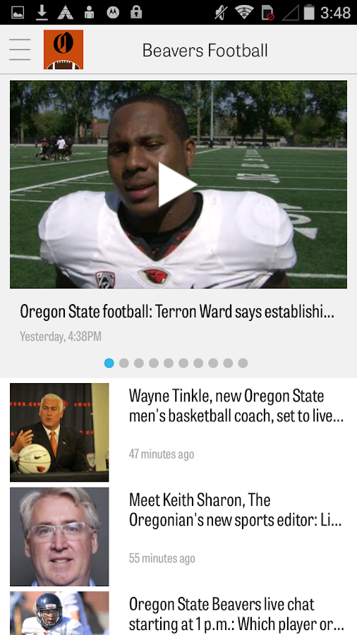 OregonLive: OSU Football News- screenshot