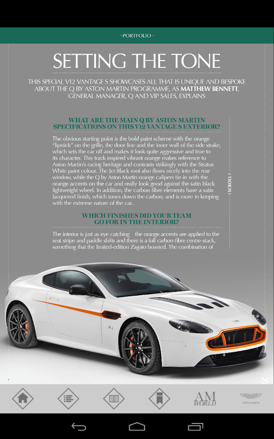 Aston Martin Magazine - screenshot