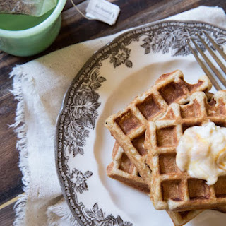 Pumpkin Yogurt Waffles with Local Honey