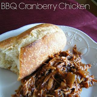 Slow Cooker BBQ Cranberry Chicken