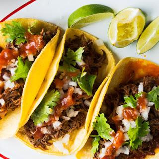 Guajillo-Braised Beef Short Rib Taco.