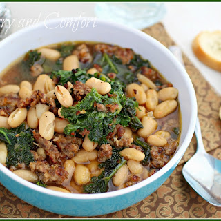 Kale, White Bean and Sausage Soup- Kale Week