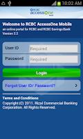 Screenshot of RCBC AccessOne-Mobile