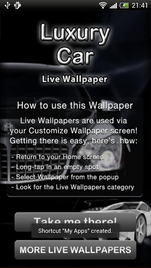 Luxury Car Live Wallpaper - screenshot