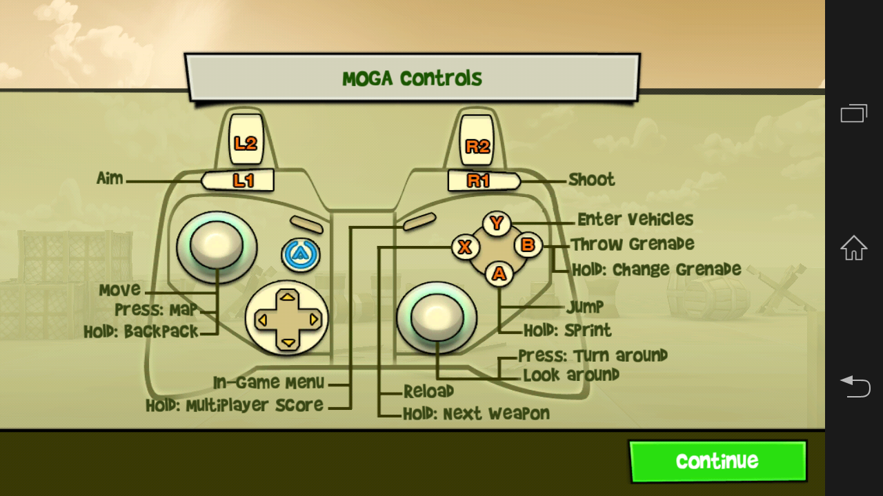 Mobile Controller Helper - screenshot