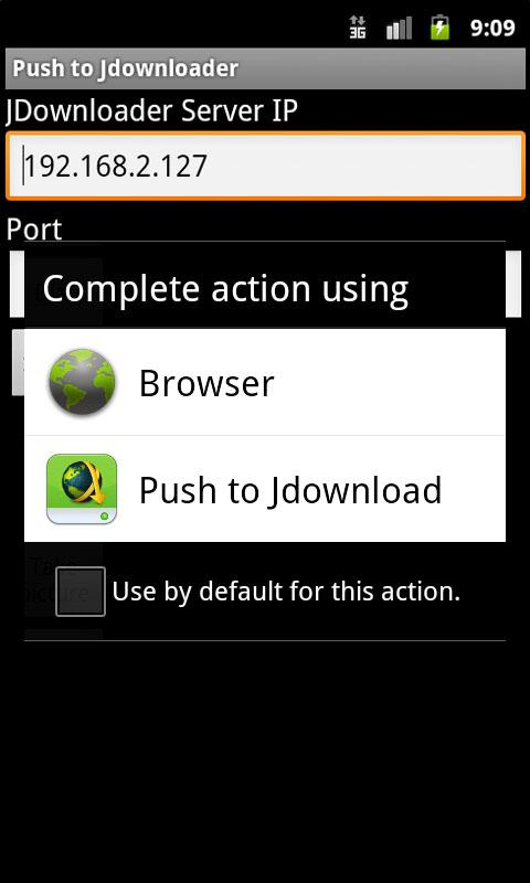 Push to JDownloader- screenshot