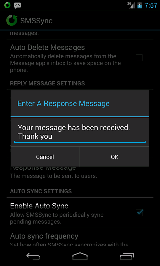 SMSSync SMS Gateway - screenshot