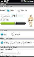 Screenshot of Diet Tracker