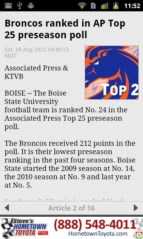 Boise State Bronco Roundup - screenshot