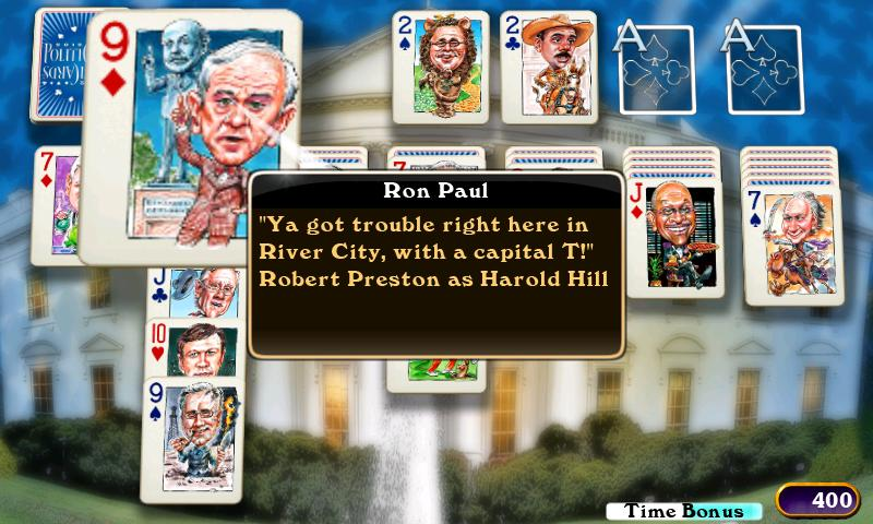 PolitiCards Solitaire - screenshot