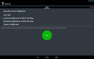 Screenshot of Screen ON