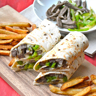 Philly Cheese Steak Wraps.