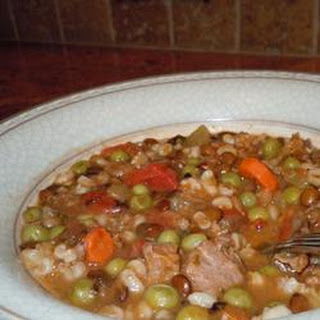 Beef and Lentil Soup.