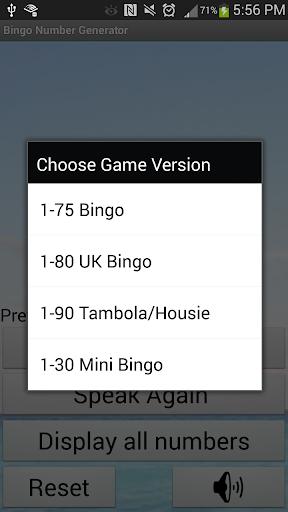 Bingo Number Generator