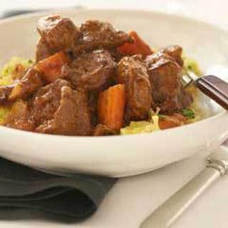 Lamb Stew With Spaghetti Squash.