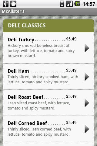 McAlister's Deli - screenshot