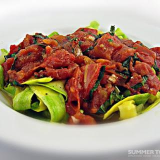 Summer Squash Pasta & Simple Tomato Sauce.