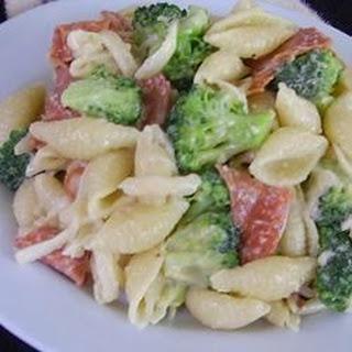 Pepperoni Caesar Pasta Salad