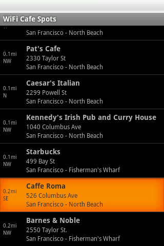 Free WiFi Cafe Spots- screenshot