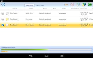 Screenshot of Symbility Mobile Claims ZA
