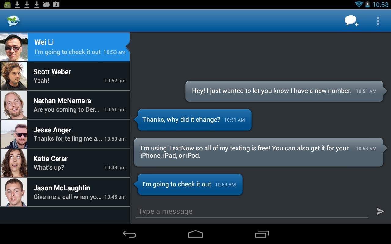 TextNow - screenshot