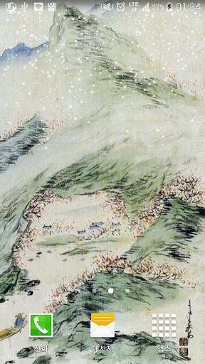 이용우산수도봄배경