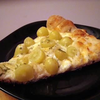 Green Grape and Gorgonzola Pizza.