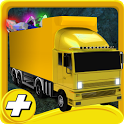 construction truck parking HD icon