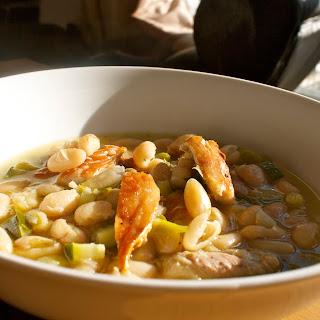 Tarragon, Bean And Smoky Mackerel Quick Soup
