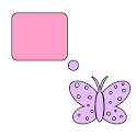 Bubble Butterflies For Go SMS icon