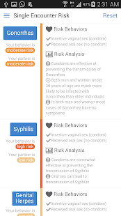 STD Risk Calculator - screenshot thumbnail